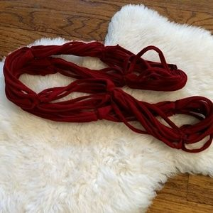 Red Knotted Scarf
